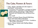 the cake flowers favors