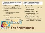 the preliminaries