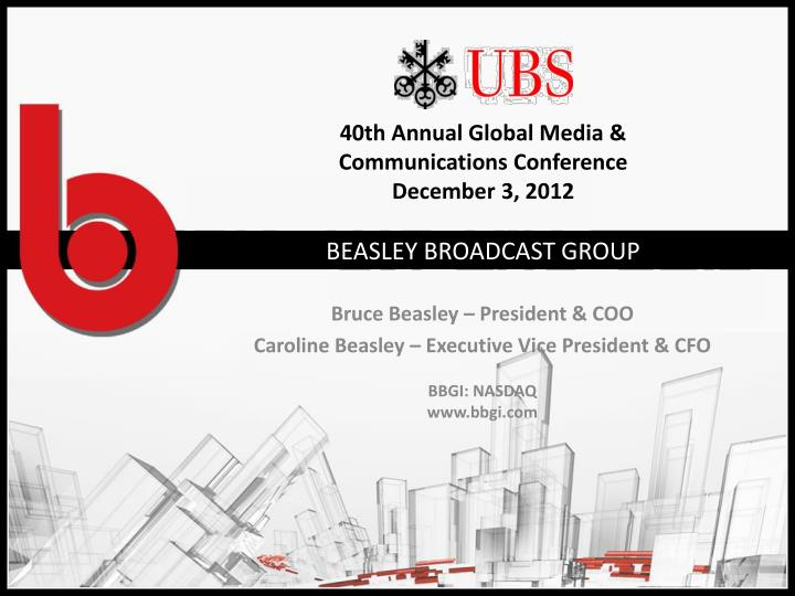 40th annual global media communications conference december 3 2012 n.