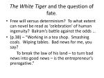 the white tiger and the question of fate