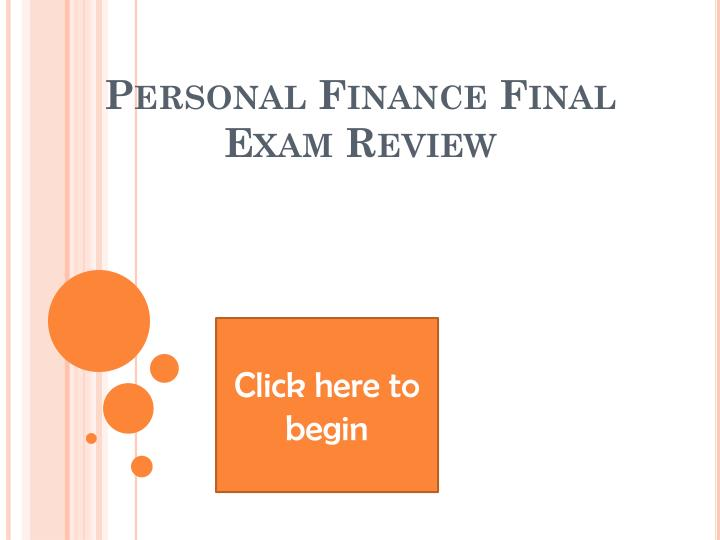 personal finance final exam review n.