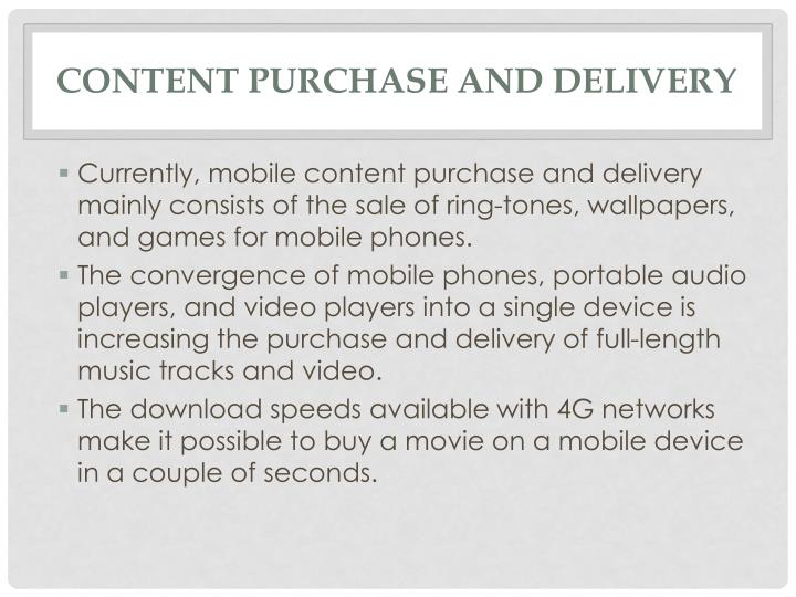Content purchase and