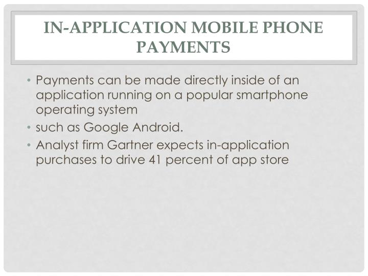 In-application mobile phone