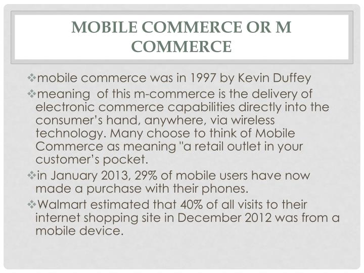 Mobile commerce or M