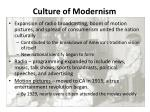 culture of modernism