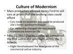 culture of modernism1