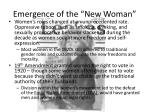 emergence of the new woman