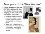 emergence of the new woman1