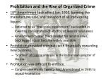 prohibition and the rise of organized crime