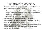 resistance to modernity