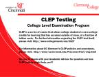 clep testing college level examination program