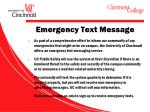 emergency text message