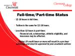 full time part time status
