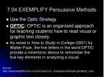 7 04 exemplify persuasive methods