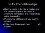 i is for interrelationships