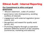 ethical audit internal reporting