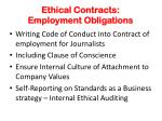 ethical contracts employment obligations