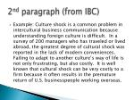 2 nd paragraph from ibc