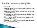 another summary template