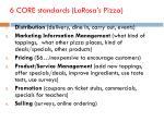 6 core standards larosa s pizza