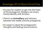 advantages of first person p oint of view