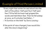 example of third person limited