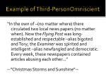 example of third personomniscient
