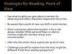 strategies for reading point of view