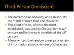 third person omniscient