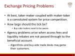 exchange pricing problems