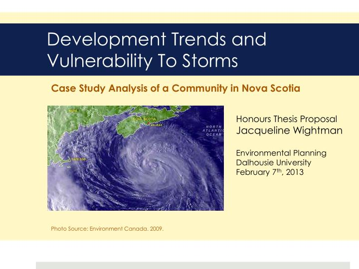 development trends and vulnerability to storms n.