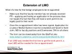 extension of lmo