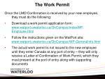the work permit