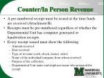 counter in person revenue