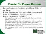 counter in person revenue1