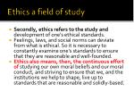ethics a field of study
