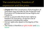 the constitution freedom of expression and the press