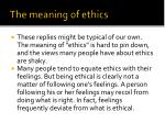 the meaning of ethics