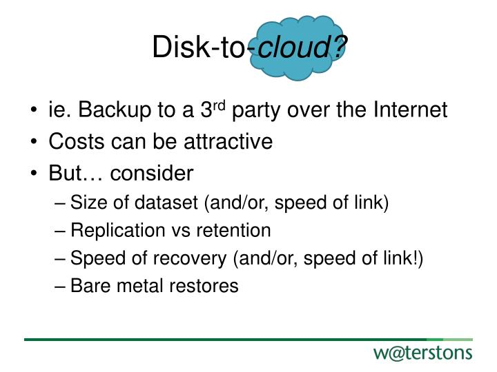 Disk-to-