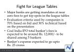 fight for league tables