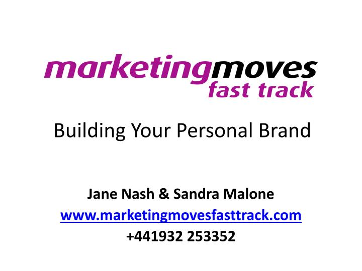 building your personal brand n.