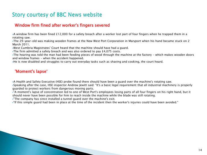 Story courtesy of BBC News website