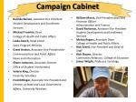 campaign cabinet