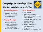 campaign leadership 2014