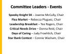 committee leaders events