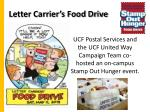 letter carrier s food drive