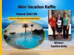 mini vacation raffle