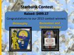 starbank contest