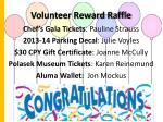 volunteer reward raffle