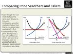 comparing price searchers and takers1